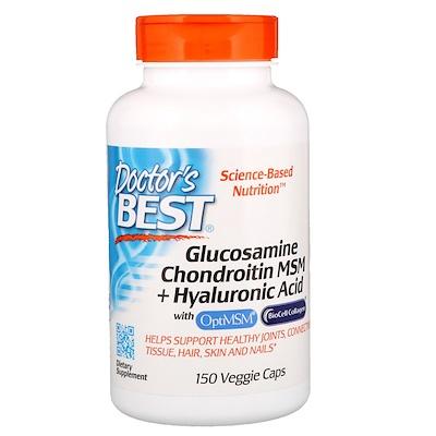 Глюкозамин, Хондроитин, Метилсульфонилметан + Гиалуроновая кислота, 150 капсул косметика кристина гиалуроновая кислота