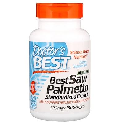 Купить Euromed, пальма сереноа, стандартизованный экстракт, 320 мг, 180 мягких таблеток