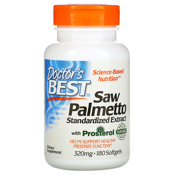Doctor's Best, Saw Palmetto, Standardized Extract, 320 mg, 180 Softgels