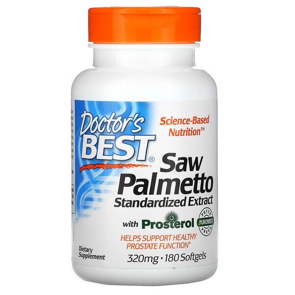 Saw Palmetto, Standardized Extract, 320 mg, 180 Softgels