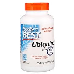 Doctor's Best, Ubiquinol, Featuring Kaneka QH, 200 mg, 120 Softgels