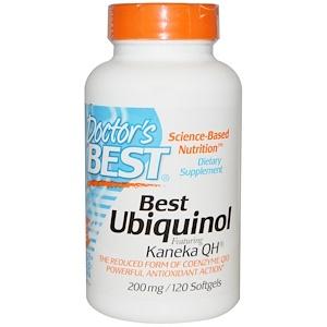 Doctor's Best, Best, Убихинол с Kaneka QH, 200 мг, 120 капсул инструкция, применение, состав, противопоказания