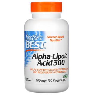 Doctor's Best, альфа-липоевая кислота, 300мг, 180вегетарианских капсул