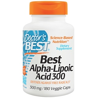 Doctor's Best, Best Alpha-Lipoic Acid, 300 mg, 180 Veggie Caps