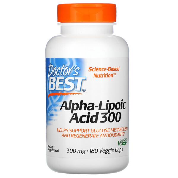 Alpha-Lipoic Acid 300, 300 mg, 180 Veggie Caps