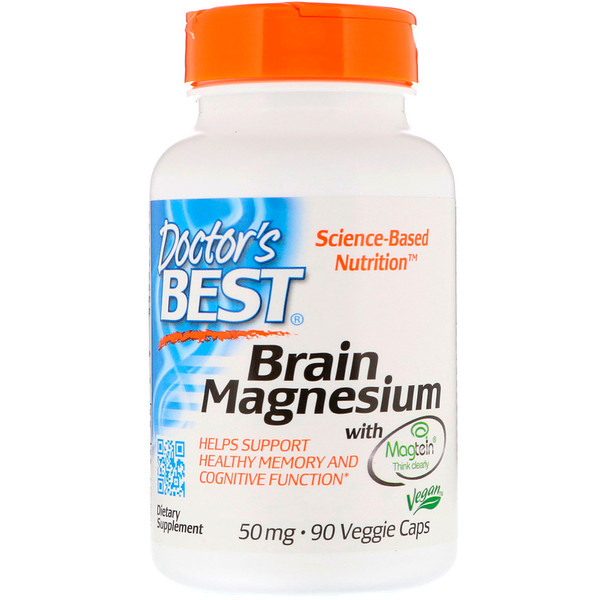 Brain Magnesium with Magtein, 50 mg, 90 Veggie Caps