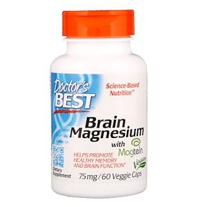 Doctor's Best, ベストブレイン マグネシウム(Best Brain Magnesium), 75 mg, 60粒(ベジタリアンカプセル)