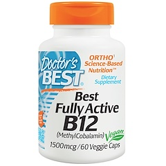 Doctor's Best, Best Fully Active B12, 1500 mcg, 60 Veggie Caps