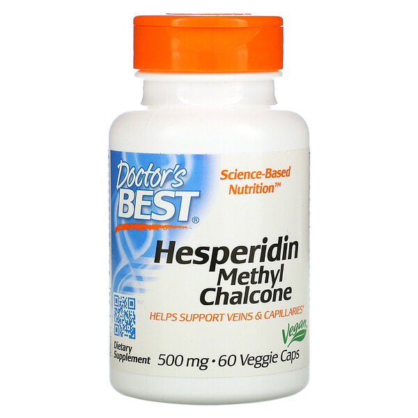 Doctor's Best, Best Hesperidin, Methyl Chalcone, 500 мг, 60 растительных капсул