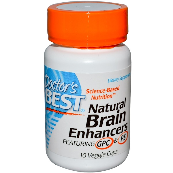 Doctor's Best, Natural Brain Enhancers, Featuring GPC & PS, 10 Veggie Caps (Discontinued Item)
