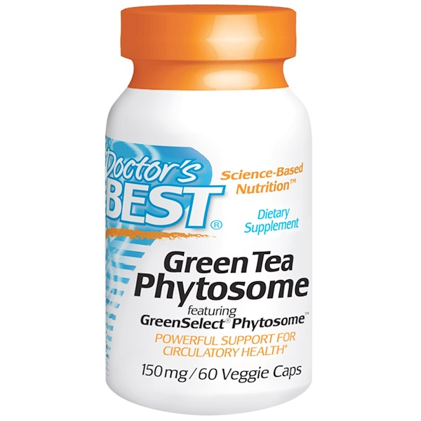 Doctor's Best, Green Tea Phytosome, 150 mg, 60 Veggie Caps (Discontinued Item)