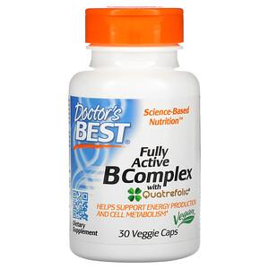 Докторс Бэст, Fully Active B Complex with Quatrefolic, 30 Veggie Caps отзывы покупателей