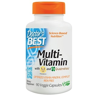 Doctor's Best, ベスト マルチプル,  完全に最適化されたビタミン-ミネラル複合体, 90 ベジタブルカプセル