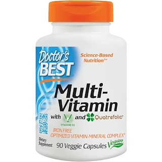 Doctor's Best, Multi-Vitamin, With Vitashine D3 and Quatrefolic, 90 Veggie Capsules
