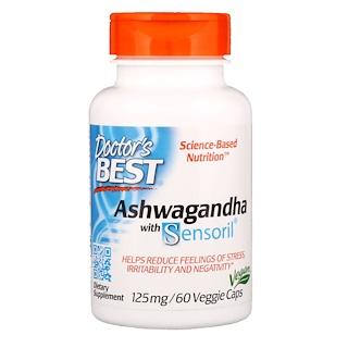 Doctor's Best, ベスト・アシュワガンダ, Sensoril® 入り, 125 mg, 60 ベジカプセル