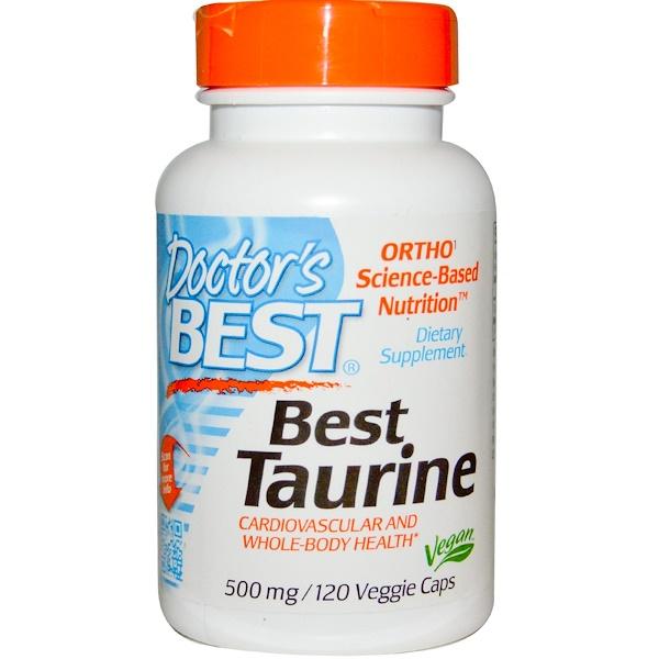 Doctor's Best, Лучший таурин, 500 мг, 120 капсул на растительной основе (Discontinued Item)