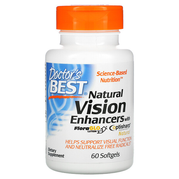 Natural Vision Enhancers with FloraGlo Lutein, 60 Softgels