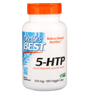 Doctor's Best, 5-HTP, 100 mg, 180 Veggie Caps