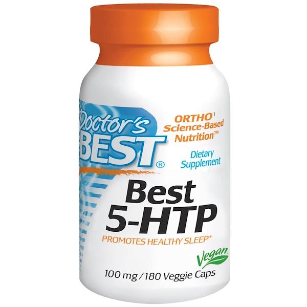 Doctor's Best, ベスト 5-HTP, 100 mg, 180 ベジカプセル