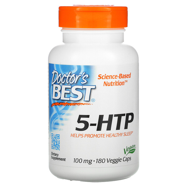 Doctor's Best, 5-HTP, 100 mg, 180 cápsulas vegetales