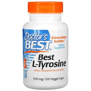 Doctor's Best, Best L-Tyrosine, 500 mg, 120 Veggie Caps