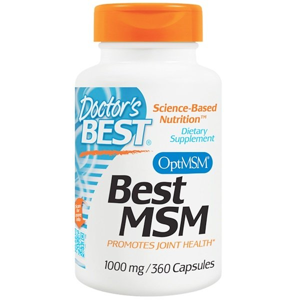 Doctor's Best, Best MSM, 1000 mg, 360 Capsules
