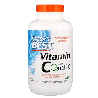 Doctor's Best, Vitamin C with Quali-C, 1,000 mg, 360 Veggie Caps