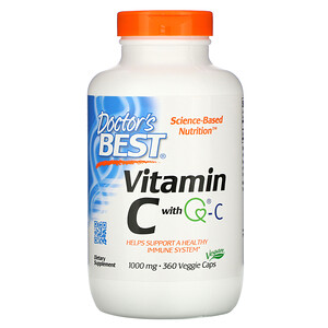 Докторс Бэст, Vitamin C with Q-C, 1,000 mg, 360 Veggie Caps отзывы покупателей