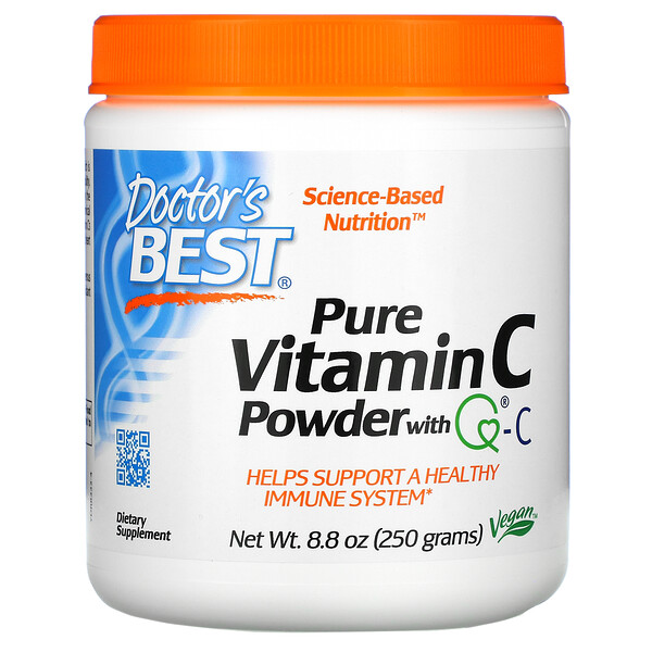 Doctor's Best, Polvo de vitamina C, con Quali-C, 8.8 oz (250 g)