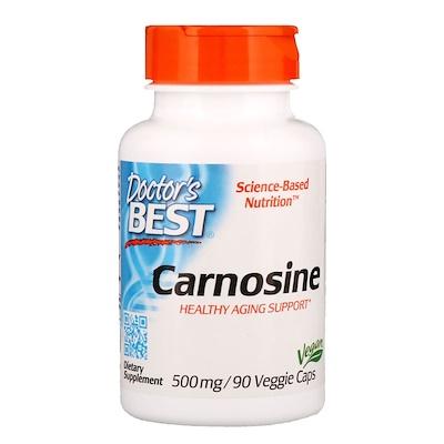 Купить Карнозин, 500 мг, 90 растительных капсул