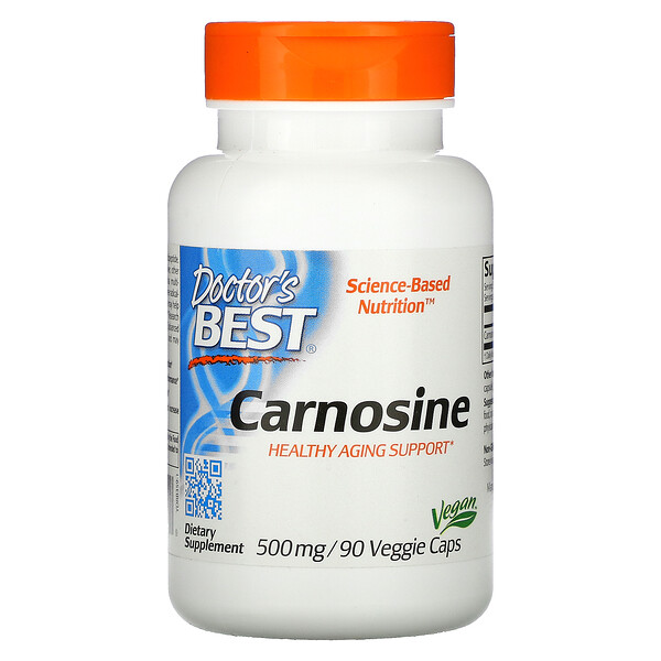 Doctor's Best, Carnosine, 500 mg, 90 Veggie Caps
