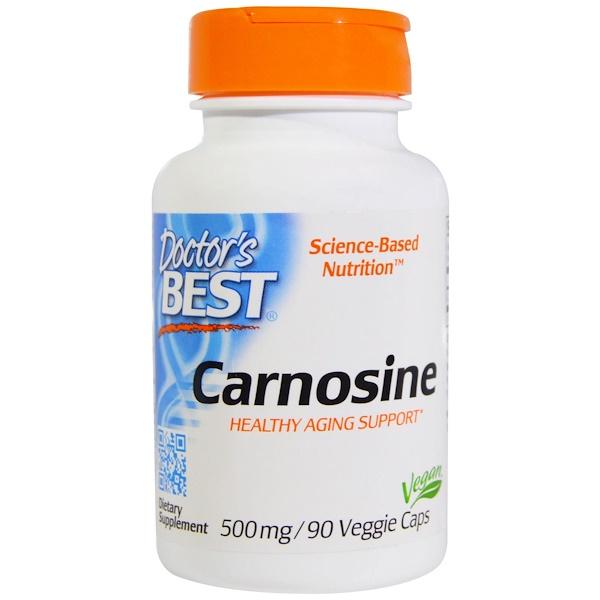 Doctor's Best, Carnosine, 500 mg, 90 Veggie Caps