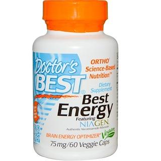 Doctor's Best, ベスト・エネルギー フィーチャリング・Niagen™, 75 mg, 60 ベジカプセル