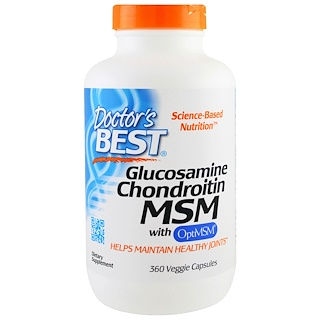 Doctor's Best, Glucosamine Chondroitin MSM with OptiMSM, 360 Veggie Caps
