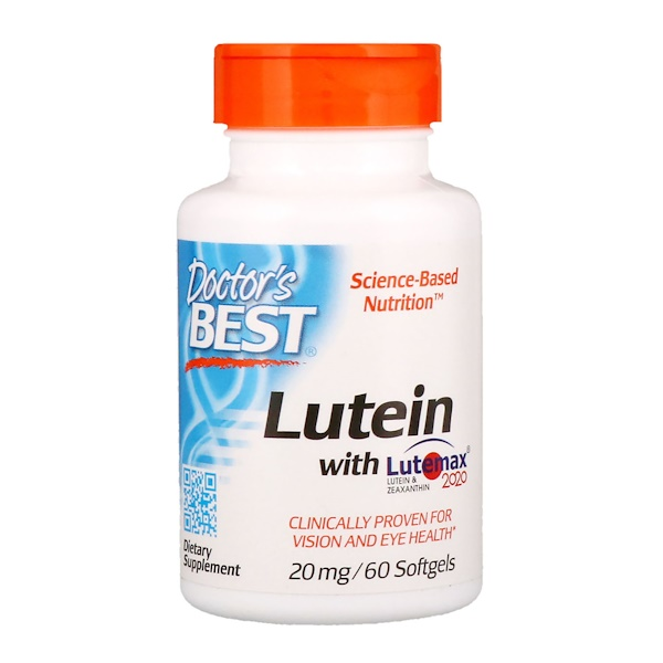 Doctor's Best, Lutein with Lutemax, 20 mg, 60 Softgels
