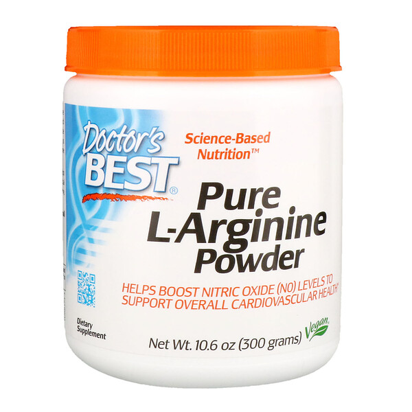 Doctor's Best, Pure L-Arginine Powder, 10.6 oz (300 g)