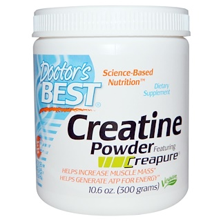 Doctor's Best, Creatine Powder Featuring Creapure, 10.6 oz (300 g)