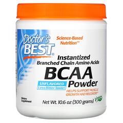 Doctor's Best, 即溶 BCAA 粉,原味,10.6 盎司(300 克)