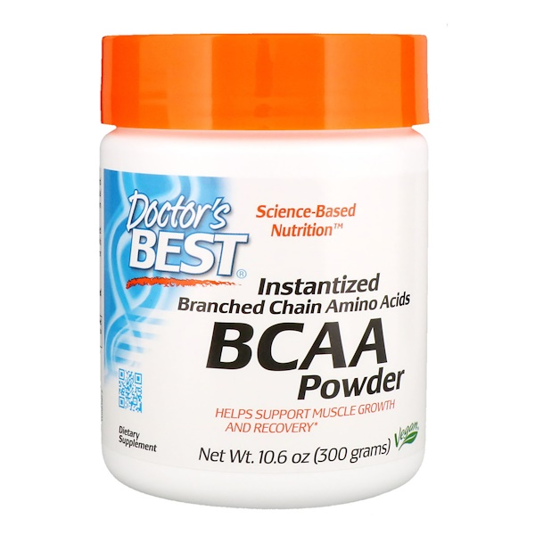 Doctor's Best, Instantized BCAA Powder, 10.6 oz (300 g)