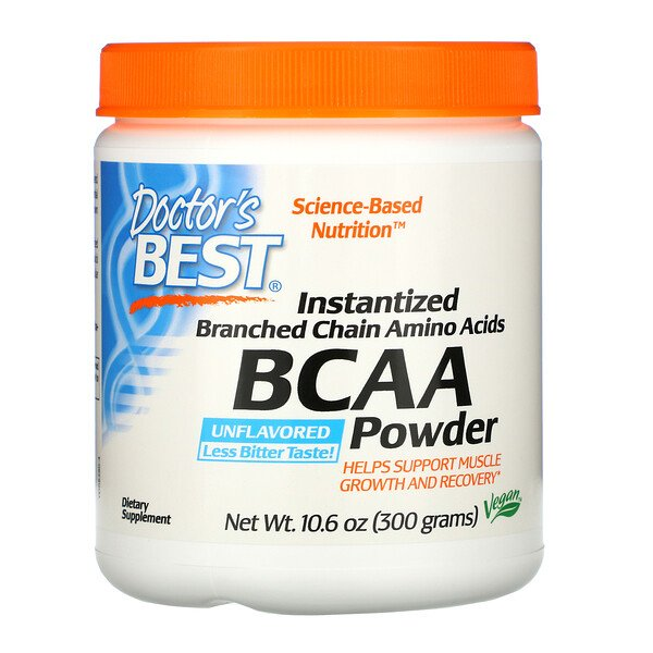 Doctor's Best, Instantized BCAA Powder, Unflavored, 10.6 oz (300 g)