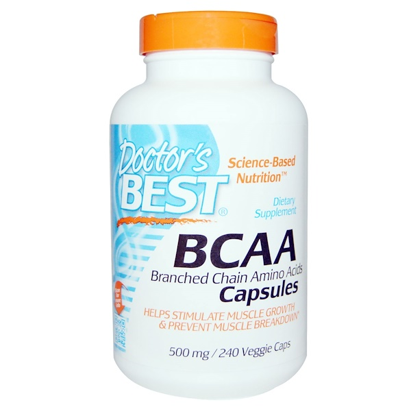 Doctor's Best, BCAA Capsules, 500 mg, 240 Veggie Caps (Discontinued Item)