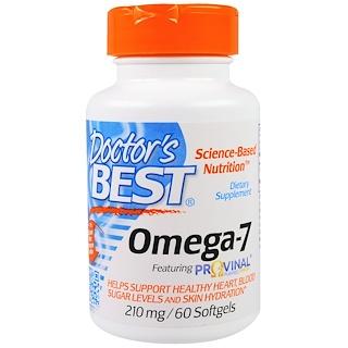 Doctor's Best, オメガ7, 210 mg, 60錠 (ソフトジェル)