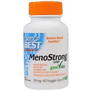 Doctor's Best, MenoStrong With GeniVida, 30 mg, 60 Veggie Caps