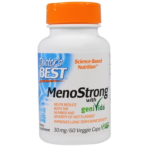 Doctor's Best, MenoStrong With GeniVida, 30 mg, 60 Veggie Caps (Discontinued Item)