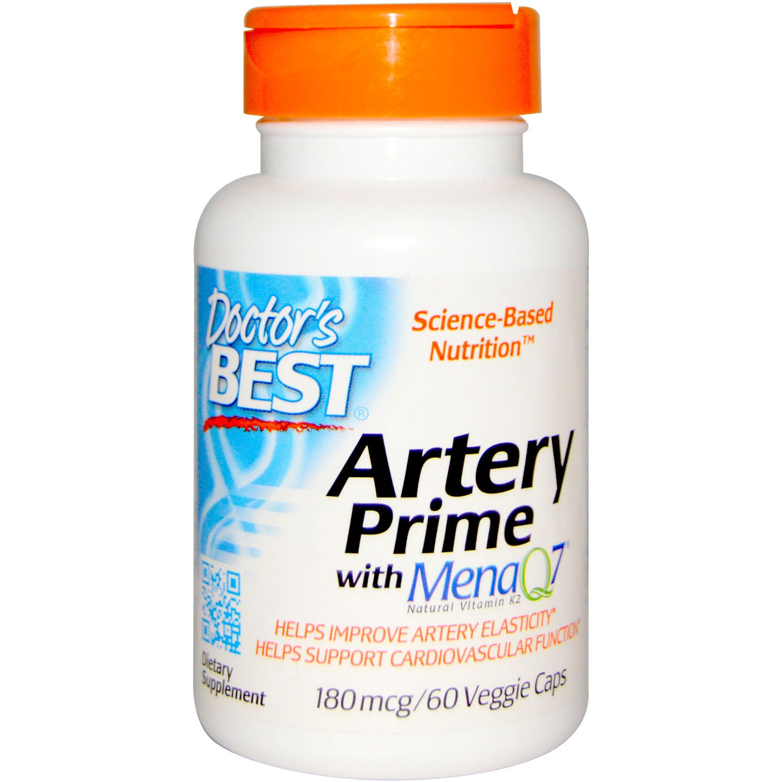 Doctor's Best, Artery Prime with Mena Q7, 180mcg, 60 Veggie Caps