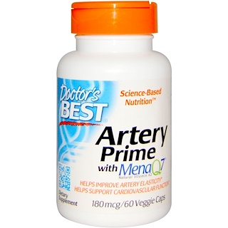 Doctor's Best, Artery Prime with Mena Q7, 180mcg, 60 Veggie Caps