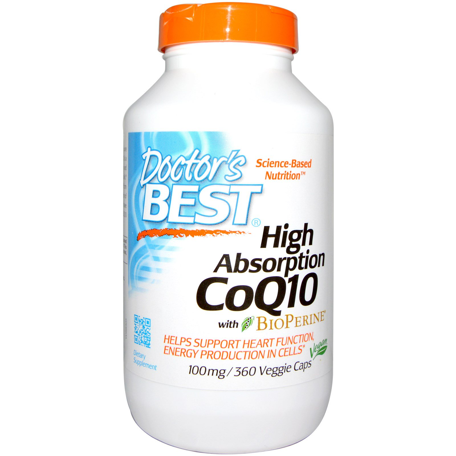 Doctor's Best, Hi Absorption CoQ10, 100mg, 360 Vegie Caps