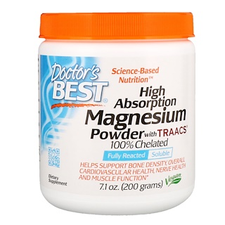 Doctor's Best, High Absorption Magnesium Powder, with TRAACS, 7.1 oz (200 g)
