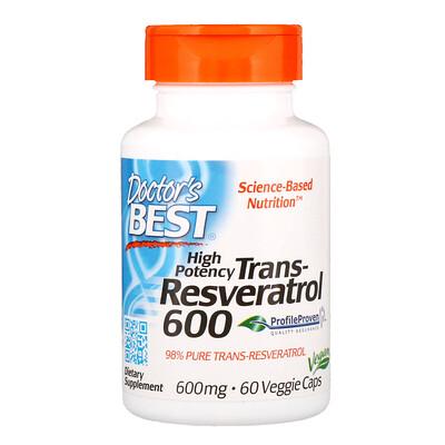 Купить Высокоэффективный трансресвератрол, 600 мг, 60 растительных капсул