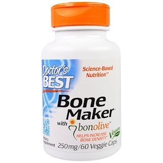 Doctor's Best, Bone Maker with Bonolive, 250 mg, 60 Veggie Caps
